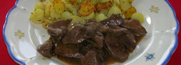 Saure Leber mit Bratkartoffeln
