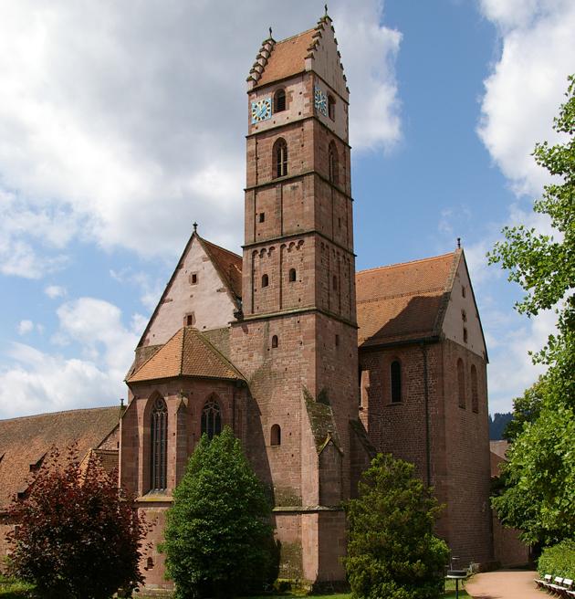 Kloster vom Kurgarten © Stadt-Information Alpirsbach