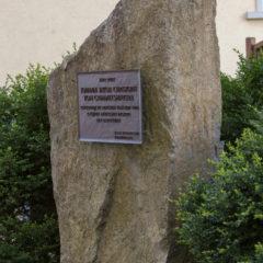 Gedenkstein an der Grabstelle Grimmelshausens